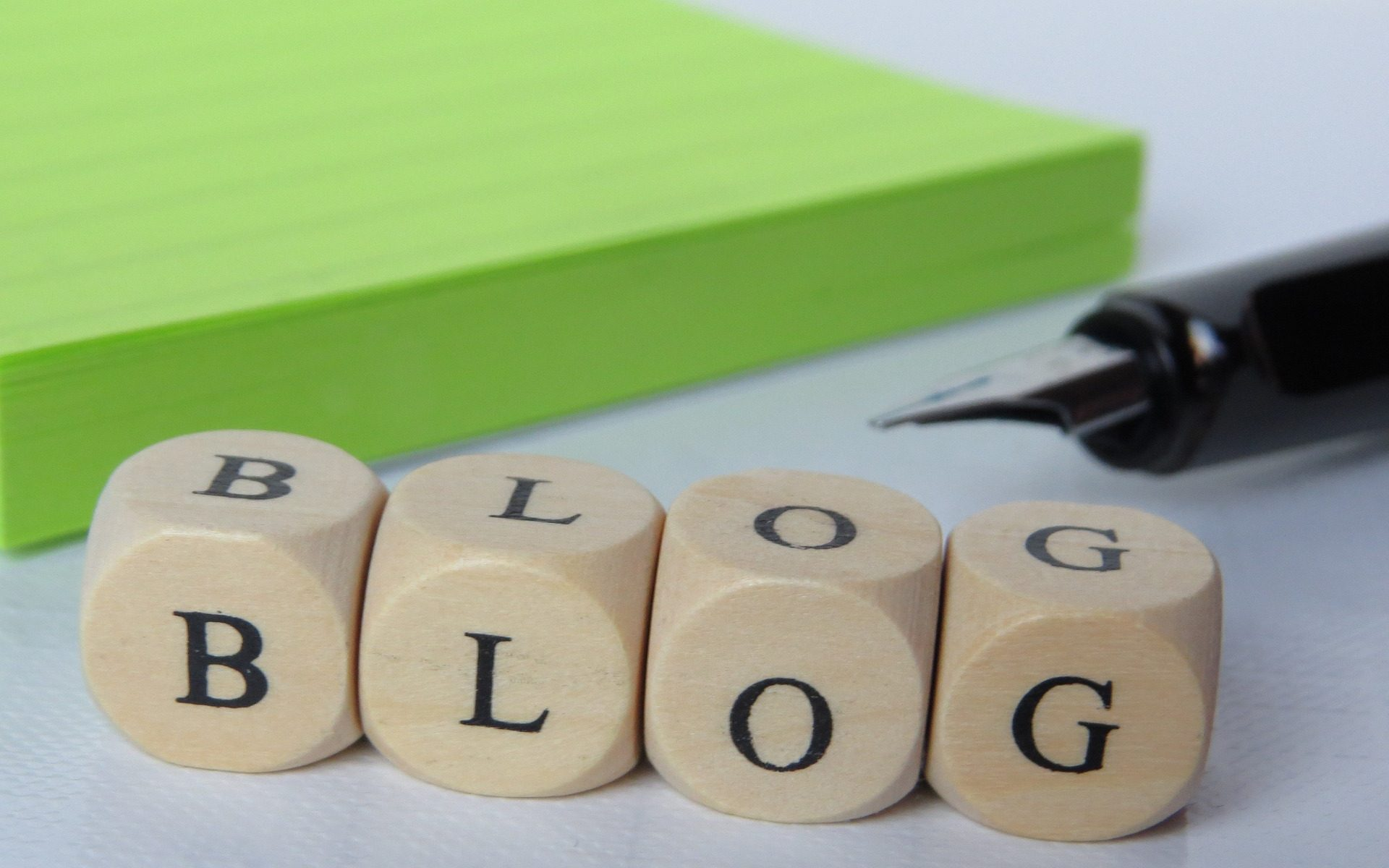 a photo with the word blog