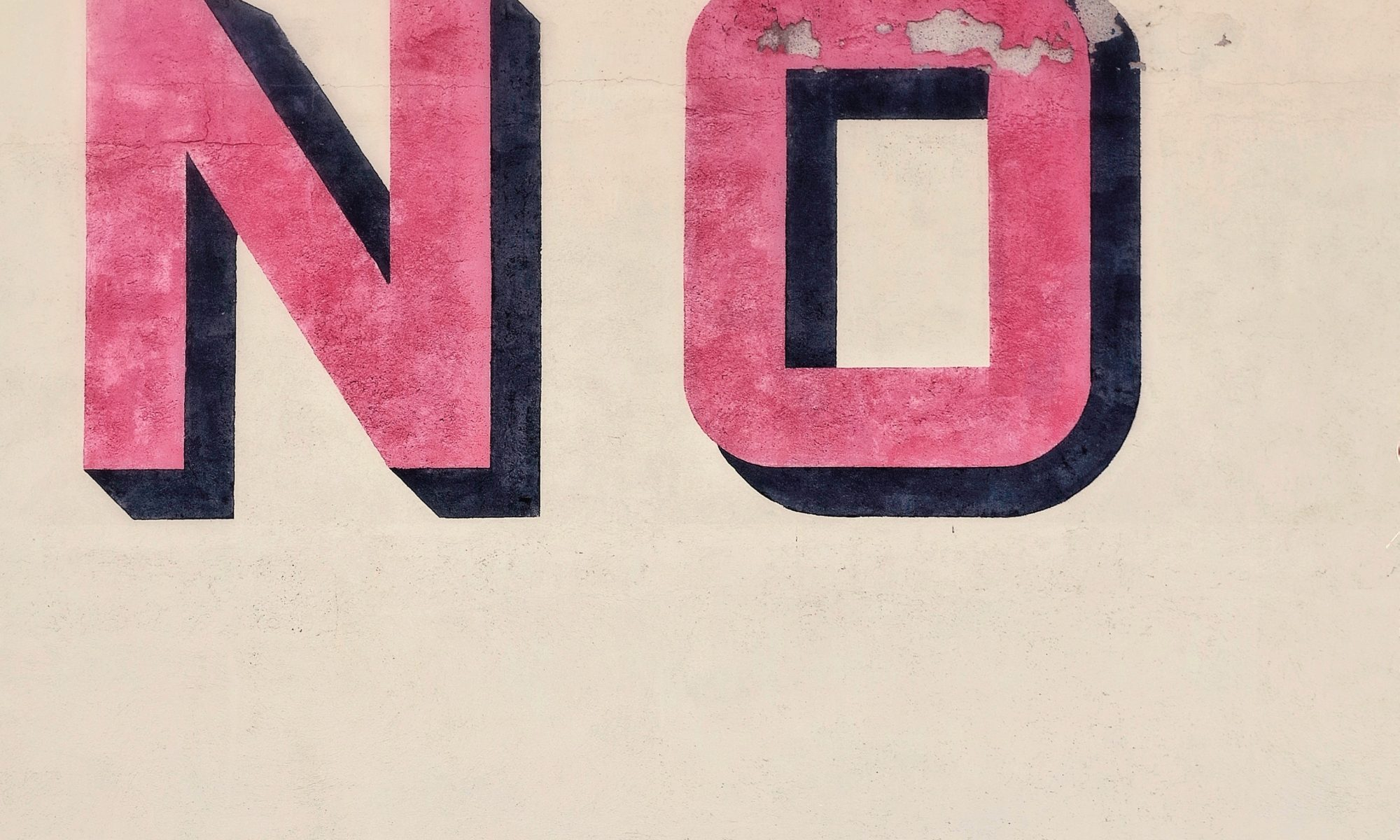 An image that says the word no